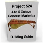 Making Marimbas five octave DIY professional concert marimba