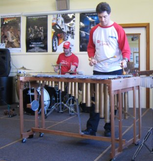 The PV DIY vibraphone on tour in schools