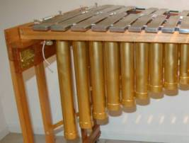 making the vibraphone resonators and tuning the resonators