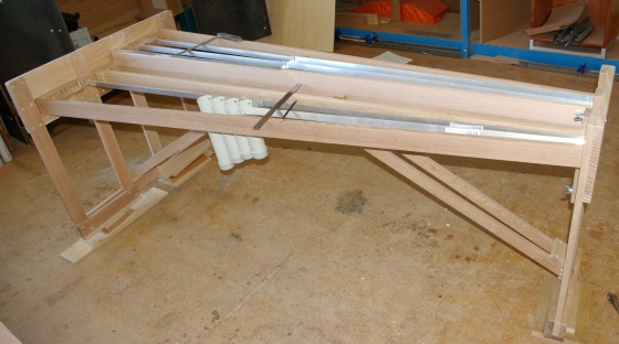 Assembling the marimba frame